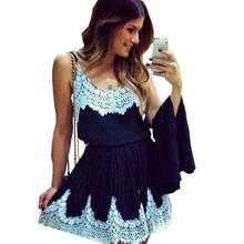 Summer dress 2016 Trade Hitz fashion white lace straps dresses vestisdos YM026(China (Mainland))