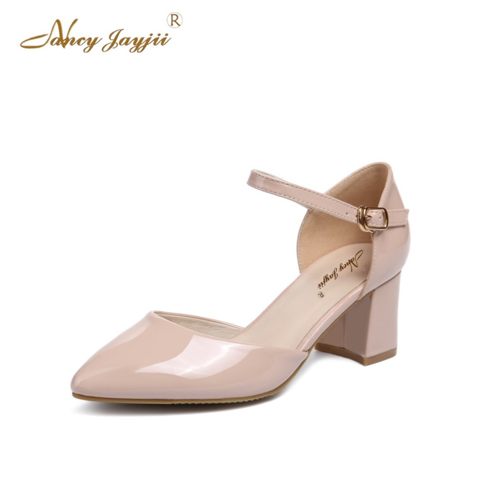 Nancyjayjii Summer Fashion Women Newest High Heels Dress&Party&Evening Solid Sandals Shoes,Zapatos Mujer Tacon Sapato Large 4-16