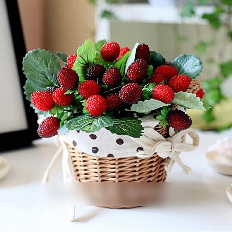 Artificial strawberry plants promotion shop for for Artificial fruit for decoration