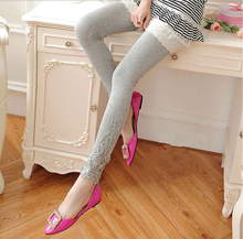 Pregnant women leggings pants trousers spring modal cotton spring and summer thin section lace pants feet Waichuan