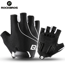 Buy ROCKBROS Cycling Bike Half Finger Gloves Shockproof Breathable MTB Mountain Bicycle Gloves Men Women Sports Cycling Clothings for $8.39 in AliExpress store