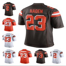2015 Cleveland Football Jerseys, Cheap Cleveland 23 Joe Haden Jersey Brown White Orange new style, Men's Elite Embroidery Jersey