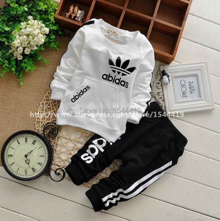 2015 Spring Autumn Children Clothing Sets Boys Girls Kids Brand Sport Suit Tracksuits 2pcs Cotton Long Sleeve Shirt+pants New(China (Mainland))