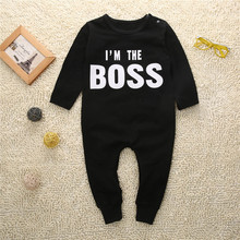 Buy bBaby Romper Autumn Winter Long Sleeve Newborn Romper letter am Boss One Pieces Baby Boy Girls Romper Cool Outfits for $4.79 in AliExpress store