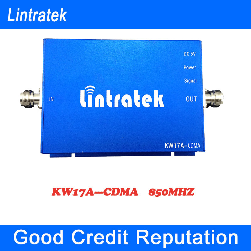 Lintratek Mobile Signal Booster 850 GSM Repeater 850mhz 65dbi Mini Size Amplificador Celular 850mhz Cell Phones Signal Amplifier(China (Mainland))