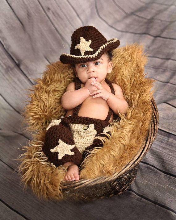 Baby Newborn Knitting Wool Yarn Star Cowboy Hat Beanie Kids Pants Infants Photography Props Outfit Q0401(China (Mainland))