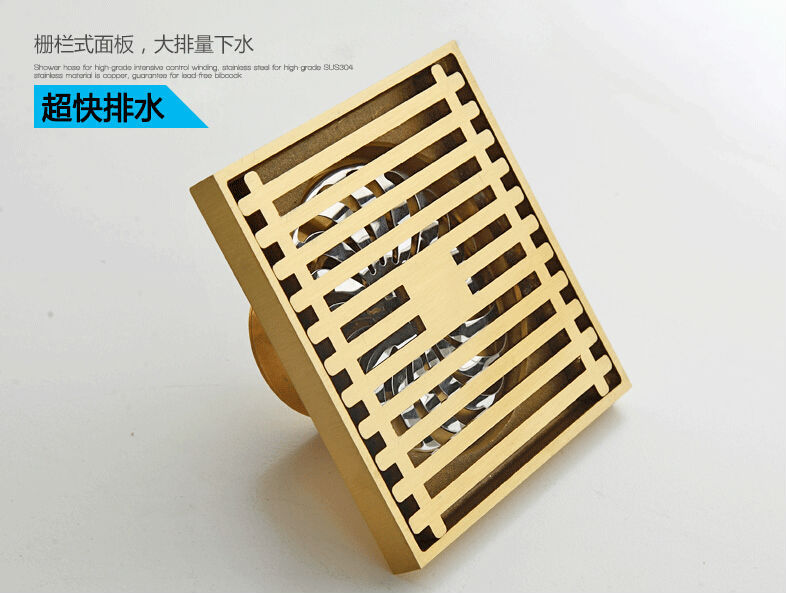 2015 Real Sewer Filter Art Deodorant Floor All Copper Kitchen Balcony Bathroom Shower Drain Premises Thickened Insect Odor Fast(China (Mainland))