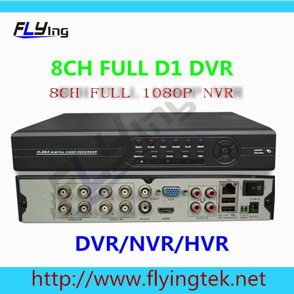CCTV Видеорегистратор Flying 8/8ch D1 h.264 1080P NVR HDMI CCTV dvr/hvr/NVR ONVIF FL-HVR5708IR 700tvl 8ch cctv system hdmi 1080p dvr nvr kit 8pcs dome indoor home surveillance security system 8ch 1tb hdd hard drive ck 128