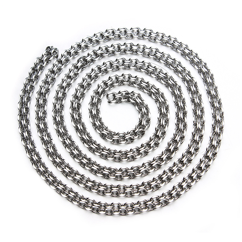 5meter/lot Stainless Steel Open Link Chains For Jewelry Diy Making Bracelet Necklace Chains Silver Bulk Rolo Oval Chain F3616(China (Mainland))