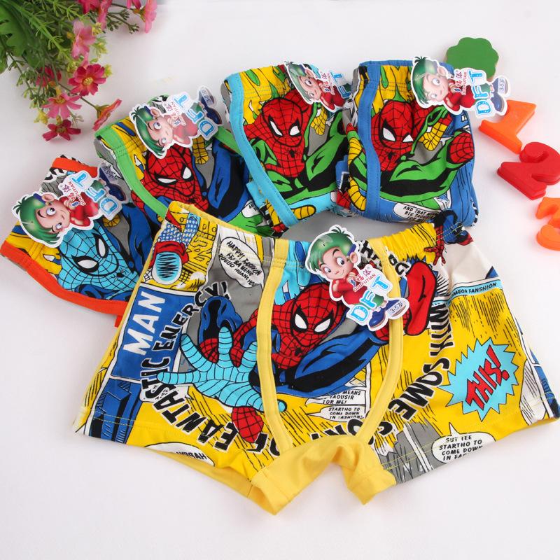 2016 Boy Underwear Children's Cartoon Boxer Underwears Cotton Boy Panties Kids Short Briefs BU089 Children Boxer Panties(China (Mainland))