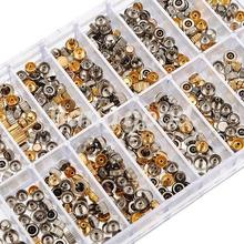 50g Watch Head Spare Crowns Gold&Sliver Mixed Set Kit Part Accessories Repair Tool for Watchmaker Random Size Free Shipping(China (Mainland))