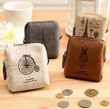2015 hot Fashion women / men canvas coin purse Vintage Wallets bolsas credit card wallet carteira feminina