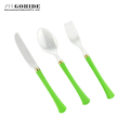 Gohide Ceramic Utensil 3Pcs Set Western Dinner Cutlery Dinnerware Set Spoon Fork Knife Travel Portable