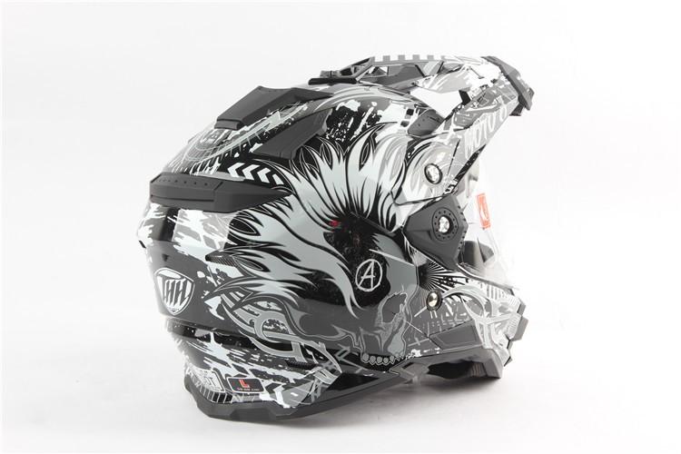 Купить Мотоциклетный шлем марка THH TX-27 бездорожья шлем мотокросс atv mtb downhill moto capacete шлем с двойным козырьком vespa