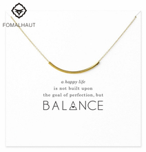 Buy Sparkling balance curved tube necklace Pendant necklace Clavicle Chains Statement Necklace Women FOMALHAUT Jewelry for $1.09 in AliExpress store