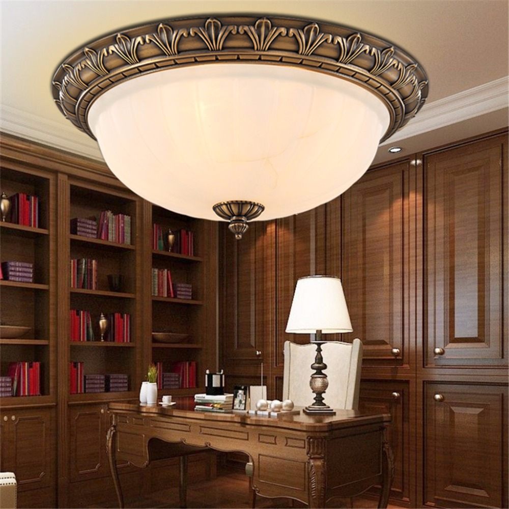 Retro Style Led Ceiling Lights with CE EMC UL Certificat plafond led Ceiling Lamp Fixture For Living Room Bedroom(China (Mainland))