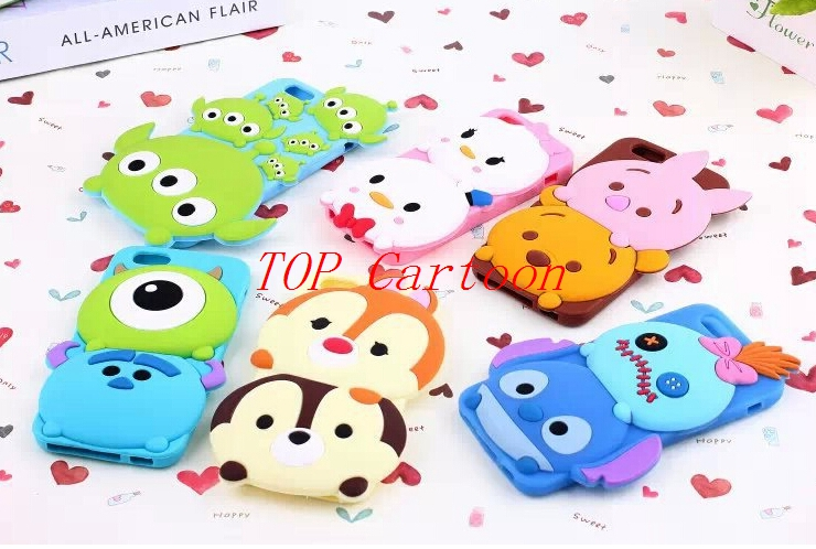 """Free Shipping 1 pcs Popular Tsum Cartoon Silicone Phone Case For Apple iPhone 6 4.7"""" 6 plus 5.5"""" Phone Cover SK-1(China (Mainland))"""