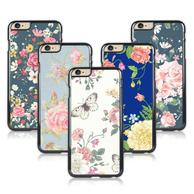 Touch 5 Floral Design Case Cover Skin for iPod Touch 5 Free Screen Protector(China (Mainland))