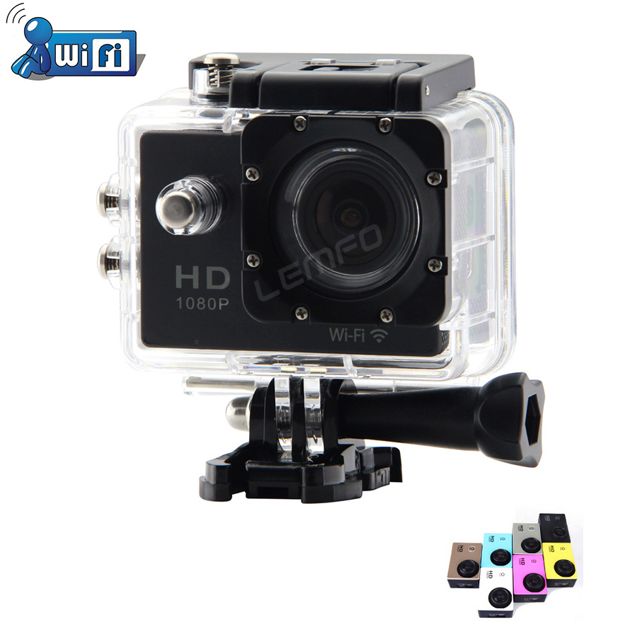 "Mini WiFi Action Camera 1080P Full HD Helmet DV Camcorder 1.5"" Diving 30M Waterproof Sport Camera Multi Color New 2015 Hot Sell(China (Mainland))"