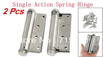 "2 Pcs Door 4"" Adjustable Tension Single Action Spring Hinges"