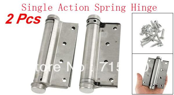 "2 Pcs Door 4"" Adjustable Tension Single Action Spring Hinges(China (Mainland))"