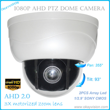 """Buy 2.5"""" compact size AHD full hd p2p motorized zoom lens ptz dome camera,3x Optical Zoom 1080P AHD Camera Support coaxial function for $63.92 in AliExpress store"""