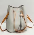 2 packets Vintage PU Leather Women Handbag 4 Color Basket High Capacity Elegant Female Bags Women