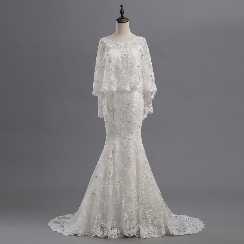 Online buy wholesale wedding dress cape from china wedding for Wedding dress with a cape