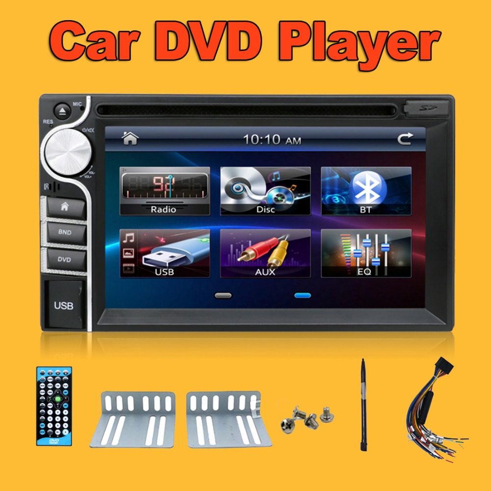 Great! Digital 2 DIN Car DVD Player Autoradio without GPS 6.2Inch In Dash FM Transmitter MP3 Head Unit CD parking Video Stereo(China (Mainland))