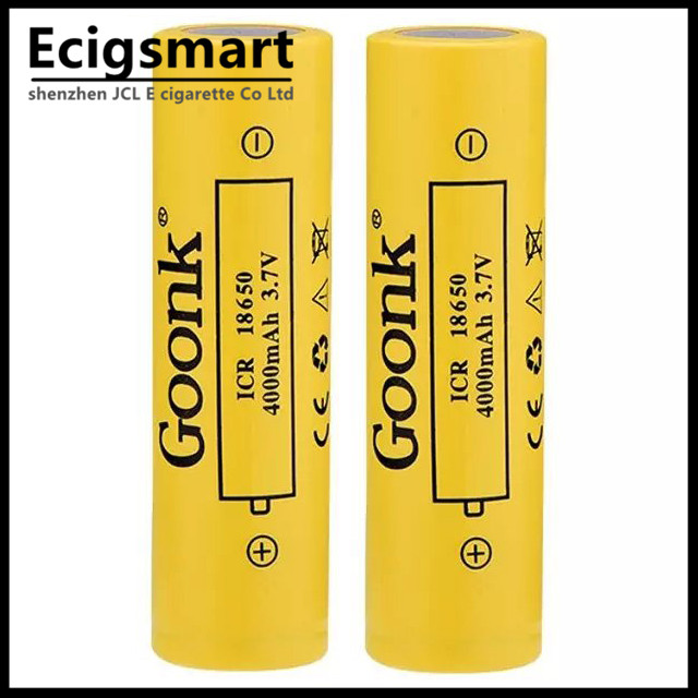 High Quanlity Goonk 4000mAh 18650 Electronic Cigarette Rechargeable Battery Big Capacity<br><br>Aliexpress