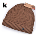 2017 winter beanie knitted wool hat plus velvet cap Thicker mens hats beanies for men bonnet