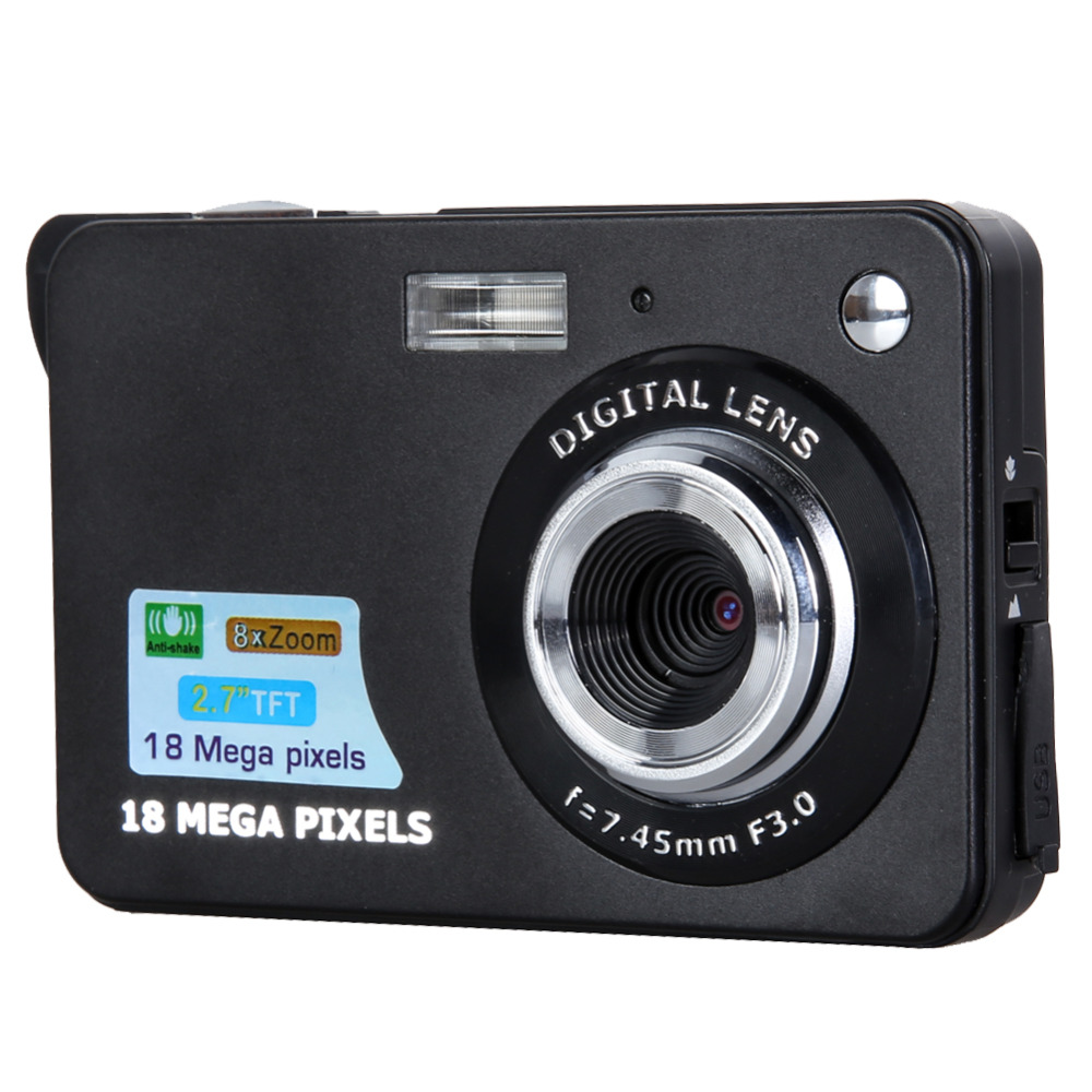 "18MP 2.7"" TFT LCD Digital Camcorder Camera DV 8X Digital Zoom HD 1280x720 Free Shipping(China (Mainland))"
