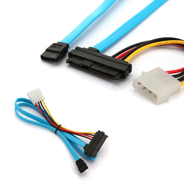 2015 Brand New And High Quality 7 Pin SATA to SAS 29 Pin & 4 Pin Male Connector Power Cable Lead Adapter Adaptor(China (Mainland))