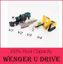 new hot cartoon USB flash drive 512GB mini Train/Excavator/Steamship/Truck USB stick 8GB 16GB 32GB Pen drive Flash drive gift