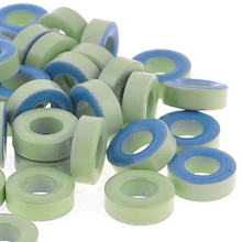 TOOGOO(R)5pcs( 50Pcs Pale Green Blue Iron Core Power Inductor Ferrite Rings AT44-52(China (Mainland))