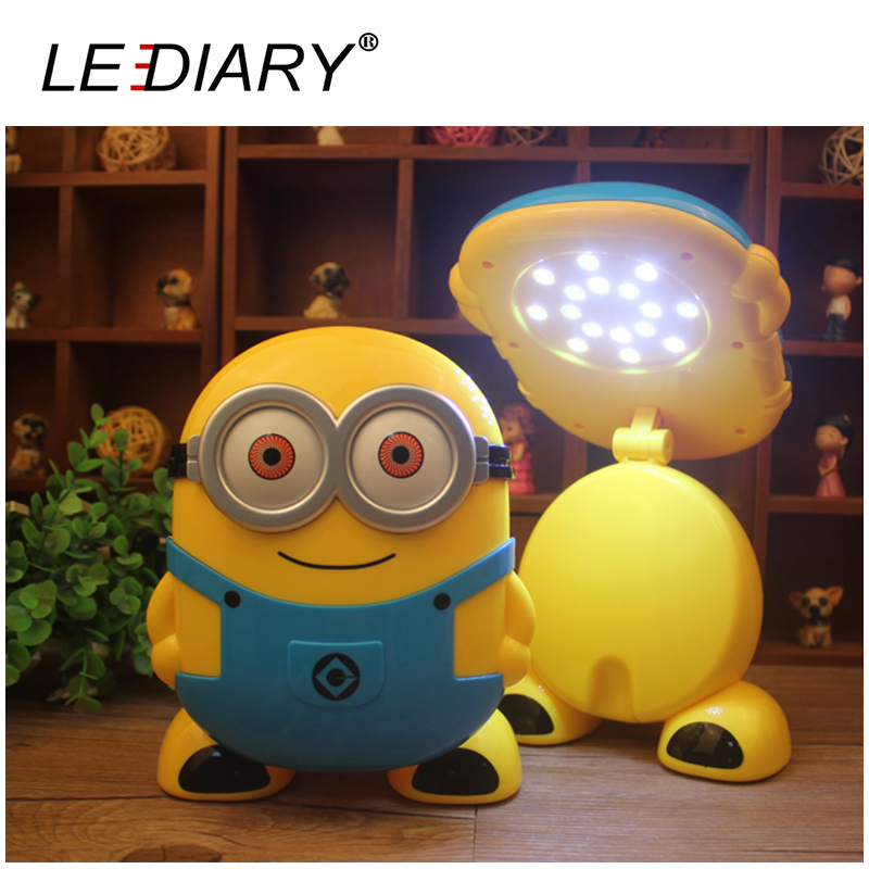 Funny Minions LED USB Rechargeable Desk Lamp Weak/Strong Light Fold Flexible Length Table/Reading Light for Student<br><br>Aliexpress