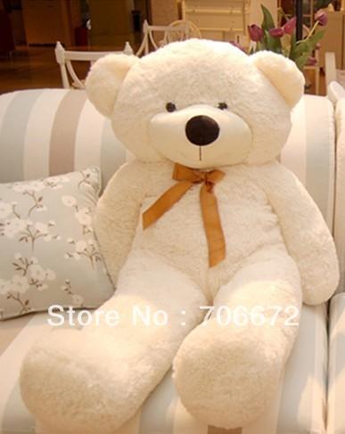 New stuffed white teddy bear Plush 120 cm Doll 47 inch Toy gift wh35<br><br>Aliexpress