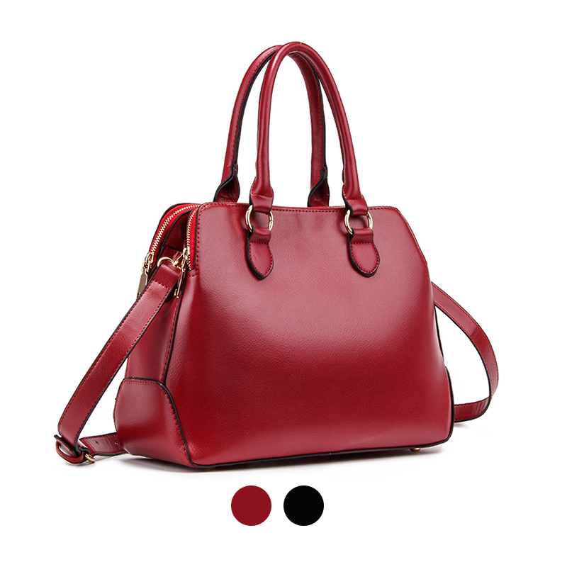 brand designers ladies burgundy red black shell top handle shoulder messenger bags handbags for lady female woman Feminina(China (Mainland))