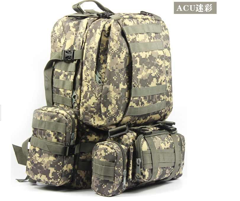 Unisex Military Rucksacks For Trekking Hiking Packs Tactical 3 Days Molle Backpack Outdoor Sport Gear Waterproof Nylon(China (Mainland))