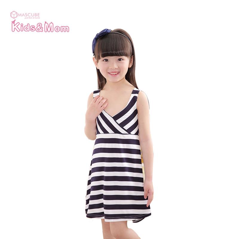 Cool Summer Girls' Clothing Striped Beach Dresses Girl Dress Kids Vest Dresses for Girls Children Clothes robe fille enfant(China (Mainland))