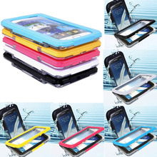 For Samsung Galaxy Note2 N7100& Note3 N9000 Case Waterproof Shockproof Gel Touch Screen Cover Mobile Phone Cases With Bags Strap(China (Mainland))