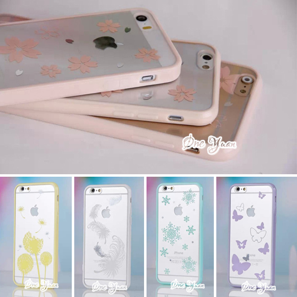 2015 Newest Cute candy colors Butterfly case For Apple iphone 5 5s case Transparent Cartoon Case cell phone cases Back covers(China (Mainland))