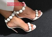 Buy Summer Fashion Women Studded Sandals Sexy Open Toe T-Straps Ladies High Heels Female Elegant Party Shoes Dress Shoes Size 42 for $79.80 in AliExpress store