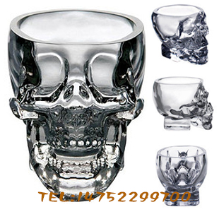Skull turesday bottle glass cup wine glass beer mug pirate wine glass red wine cup(China (Mainland))