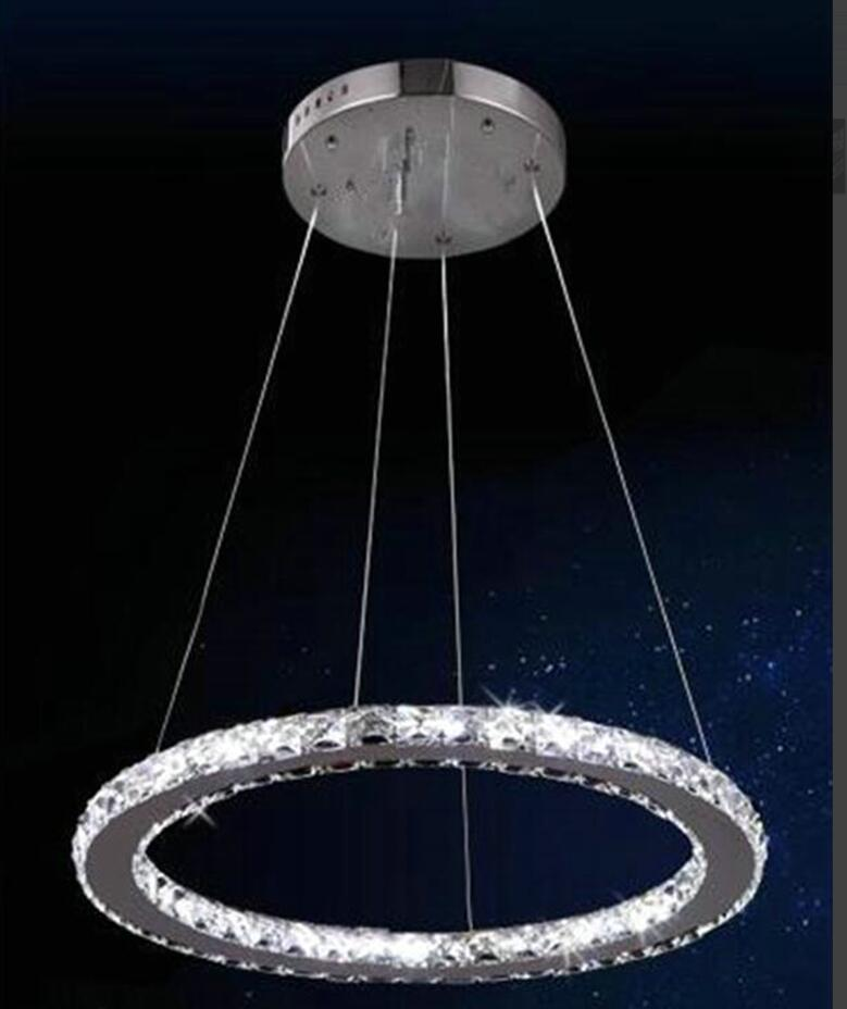 Fashion Ring Chandeliers led lamps stainless steel LED Crystal Chandelier high-power led lustre light Chandelier(China (Mainland))