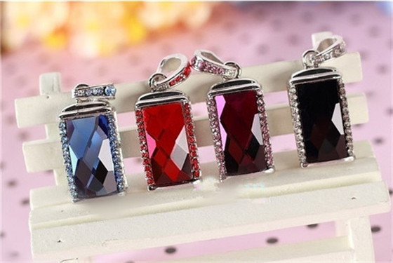 Hot sale hot selling crystal necklace USB memory stick usb flash drive pen drive 4GB 8GB 16GB 32GB S107(China (Mainland))