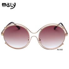 Европейский бренд солнцезащитных очков 100% UV 400 7 цветов выбрал классическая урожай круглый алюминиевый мужской и женский мода солнцезащитные очки