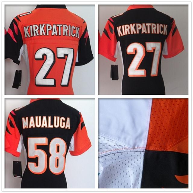 Women #27 Dre Kirkpatrick jersey Stitched #58 Rey Maualuga jersey Cheap Cincinnati jerseys throwback American football jersey(China (Mainland))