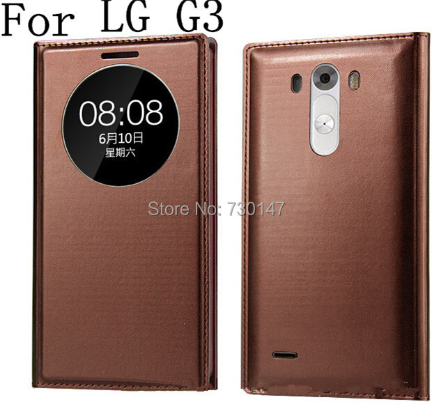 Auto wake /sleep function Smart view back Cover LG G3 D850 D851 D855 Flip Leather Window Case - SHENZHEN KAYKAY TRADE CO., LTD store