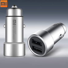 Buy Original Xiaomi Fast Charging Car Charger Fast Charging Dual USB Output 12 24V Input Quick Charging Metal Smart phone for $11.84 in AliExpress store
